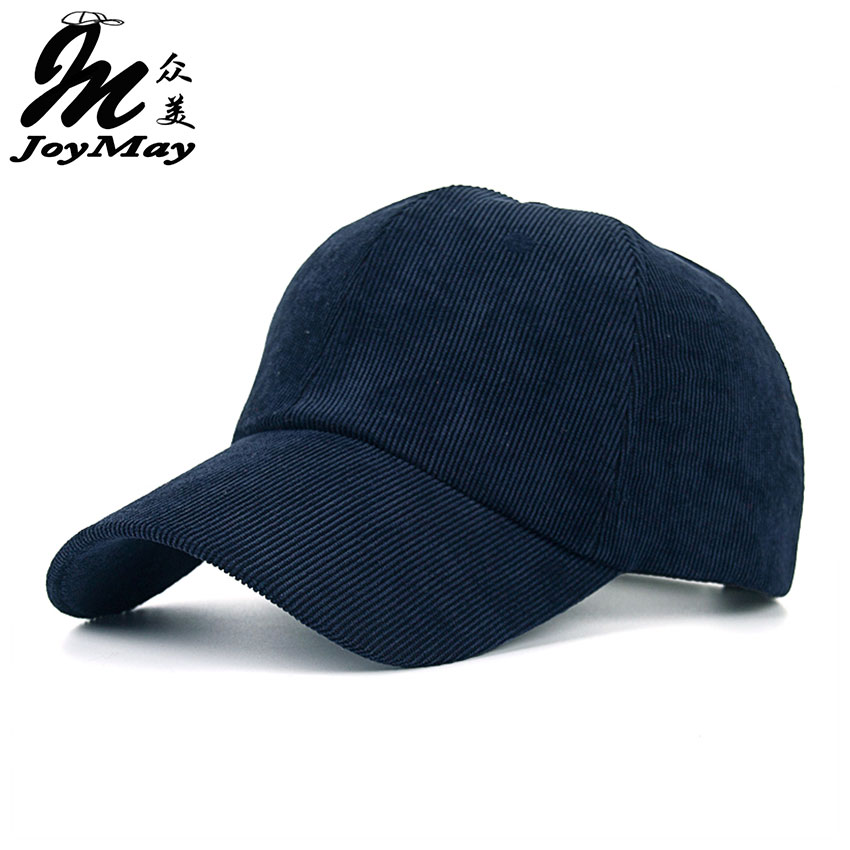 Joymay 2016 New Unisex Couple Solid Color Corduroy Winter Warm Baseball cap Adjustable  Fashion Leisure Casual Snapback HAT B393 free shipping new winter unisex oversized slouch cap plicate baggy beanie knit crochet hot hat y107