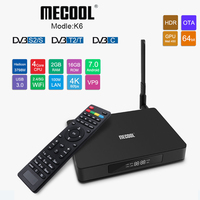 DVB S2/ T2/ C TV Box Android Smart TVbox 2GB 16GB 2.4G Wifi Set Top Box 4K Streaming Media Player K6 Smart Mini PC