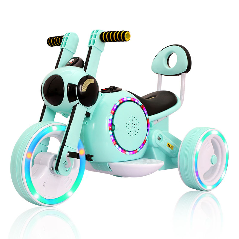 9bf2fb6851645 Kids Ride On Cars Electric Motor Car for Children Three-Wheel Toy Car Early  Education Music+Flash Wheel Light 1-6 Years Old