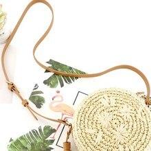 Stylish Beautiful women bag Tassel Decoration Women Messenger Bag Round Shape Straw Woven Solid Color Messenger Bag