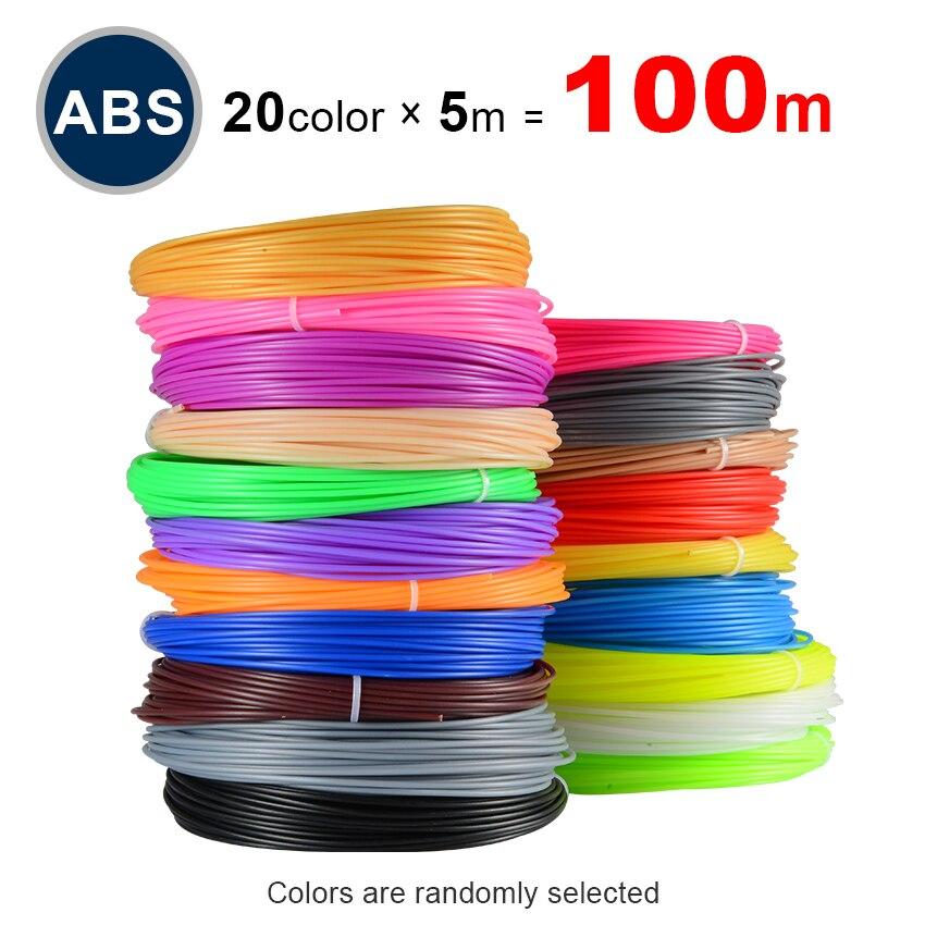 Perfecto 3d especial abs filamento pla 1,75mm filamento del pla 3d impresora abs 3d pluma pla plástico 20 colores abs 1,75 sin contaminación