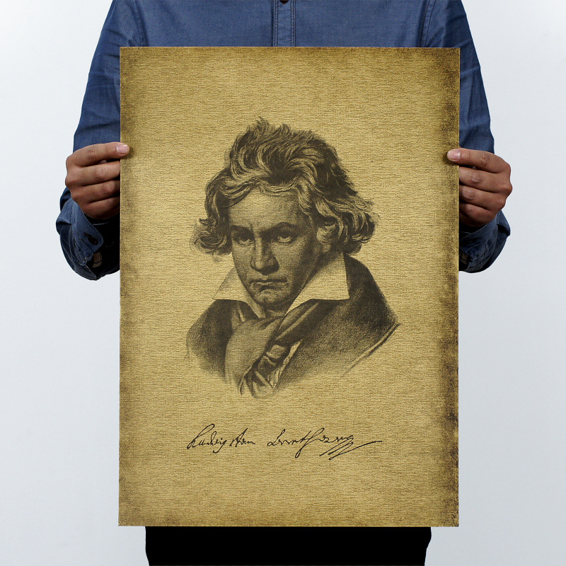 Musician Beethoven Vintage Kraft Paper Movie Poster Home Wall Decoration School Office Retro Posters And Prints