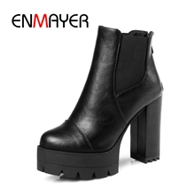 purple hairy lace up square toe women ankle high boots leopard print platform stivali femminili star casual wedges boots femmes ENMAYER Women Pointed Toe Boots extremely high platform wedges Elegant Lace Up Ankle Boots Winter Black Punk Shoes ZYL142