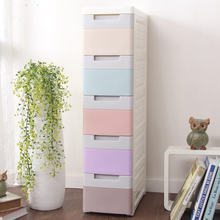 Narrow plastic chest of drawers organizer storage drawers cabinet for clothes plastic box organizador save space furniture