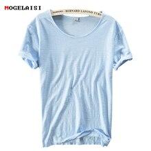 Hot 2018 summer linen t shirt men short sleeve O-NECK breathable 100% linen cotton soft white t-shirt high quality 213