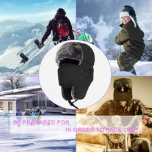 Winter Men Bomber Hats Men Fur Warm Thickened Ear Flaps Wint