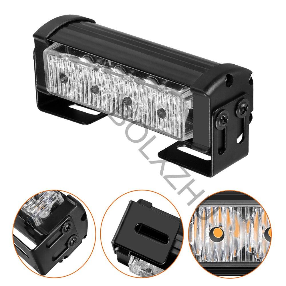 2x4/2x6 LED Ambulance Police Strobe light Car Truck Grille DRL Emergency Flashing lamp Auto LED Warning signal light 12V