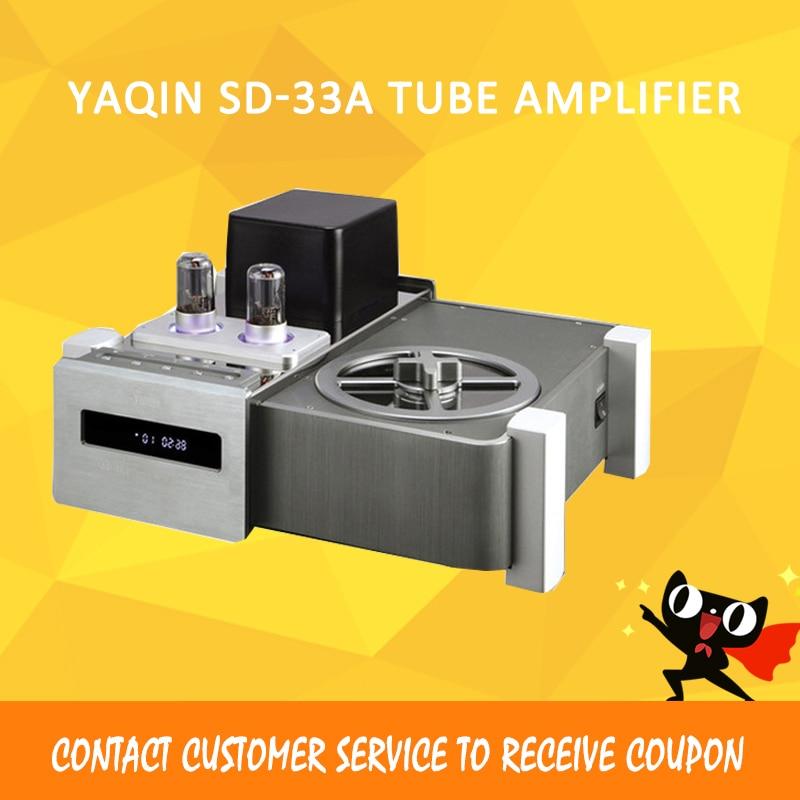 ASD Dilvpoetry YAQIN SD-33A HIFI HD CD EXQUIS Balance Coaxial output disc Tube Amplifier Player shanling cd t2000 hifi cd player hi end vacuum tube cd player pcm1792 24bit 192khz coaxial usb dac xlr output