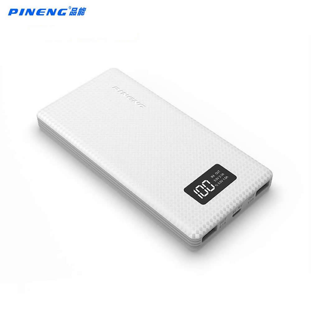 Original Pineng Power Bank 10000mah PN963 External Battery Pack Powerbank 5V 2.1A Dual USB Output for Android Phones Tablets
