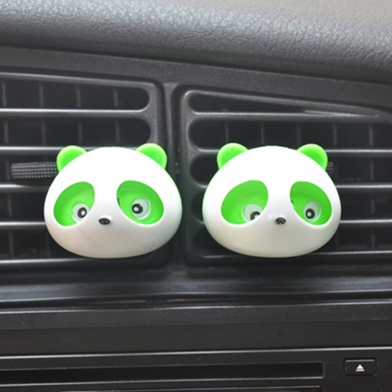 2pcs Car Perfumes Air Conditioner Vent Outlet Air Freshener 100 original Fragrance Car styling Accessories Panda Eyes Will Jump