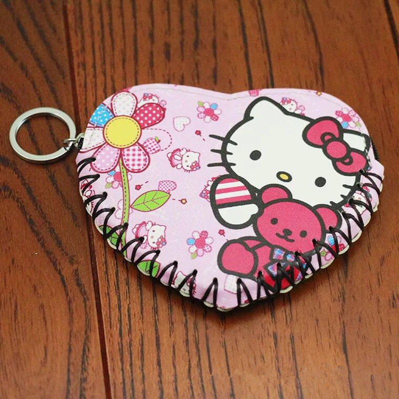2017Children Cartoon Wallet Love heart Zipper Change Coin Purse Small Money Purse Kids Girl Women Pouch Bolsa