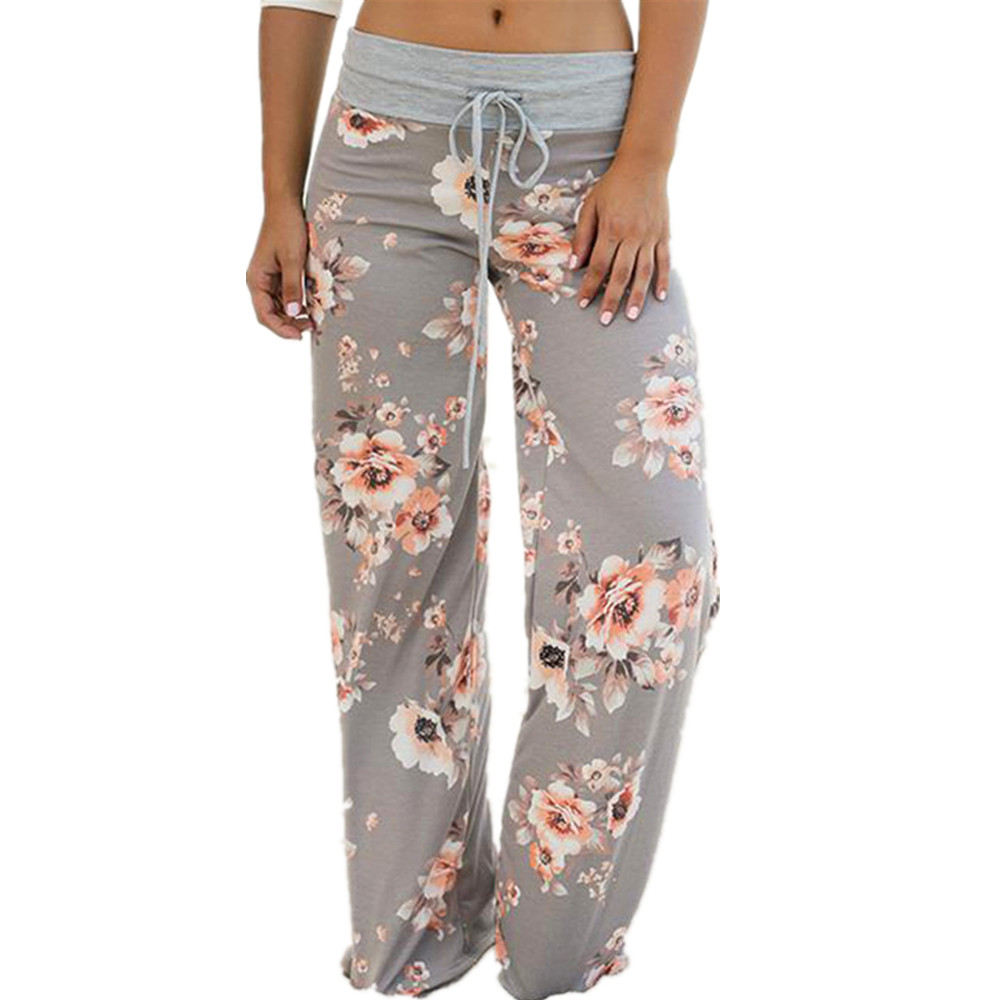 Autumn Printed   Wide     Leg     Pants   Female Loose   Pants   Camouflage Army Women Casual   Pants   Sexy Plus Size Long Trousers Homewear GV829