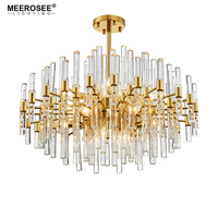 Meerosee Contemporary Crystal Chandelier Lighting Fixture Creative Lustres Hanging suspension Light Dining room Living room Lamp|chandelier light fixture|crystal chandeliers lighting fixtures|contemporary crystal chandelier lighting -