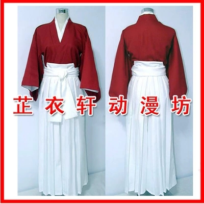 Anime Rurouni Kenshin Samurai X Trust and Betrayal Himura Kenshin Kimono Cosplay Costume 2 Colors Custom-made Any Size NEW