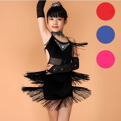 0ef7a08d9 New Child Girls Kids Sexy Cheap Black Blue Red Pink Sequin Dance ...
