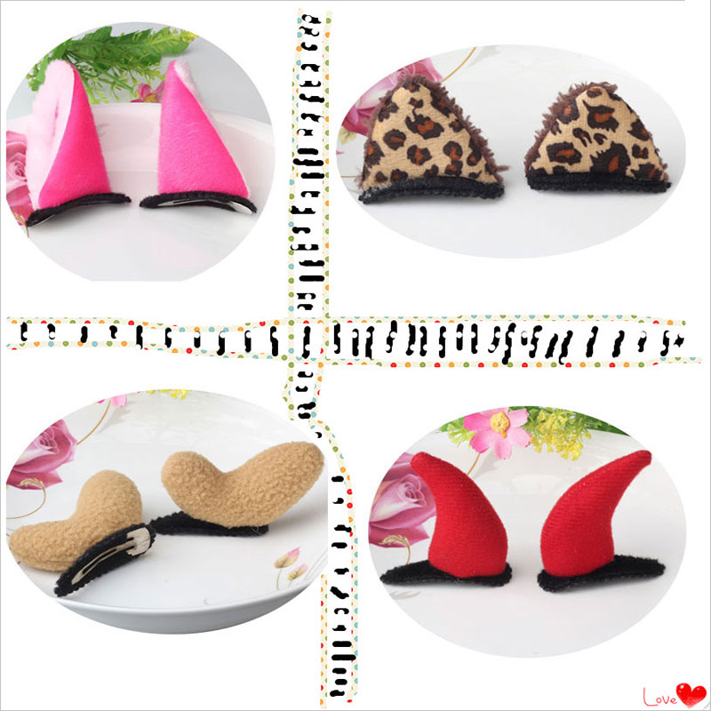 M MISM Cute Ox Deer Horn Cat Ears Hairgrip Hairpins Hair Accessories Ornaments Lovely Hair Clips For Children Girls Kids m mism new lovely cute dot bow knot hair combs hair clip for children girls kids hairpins hair accessories ornaments hairgrip