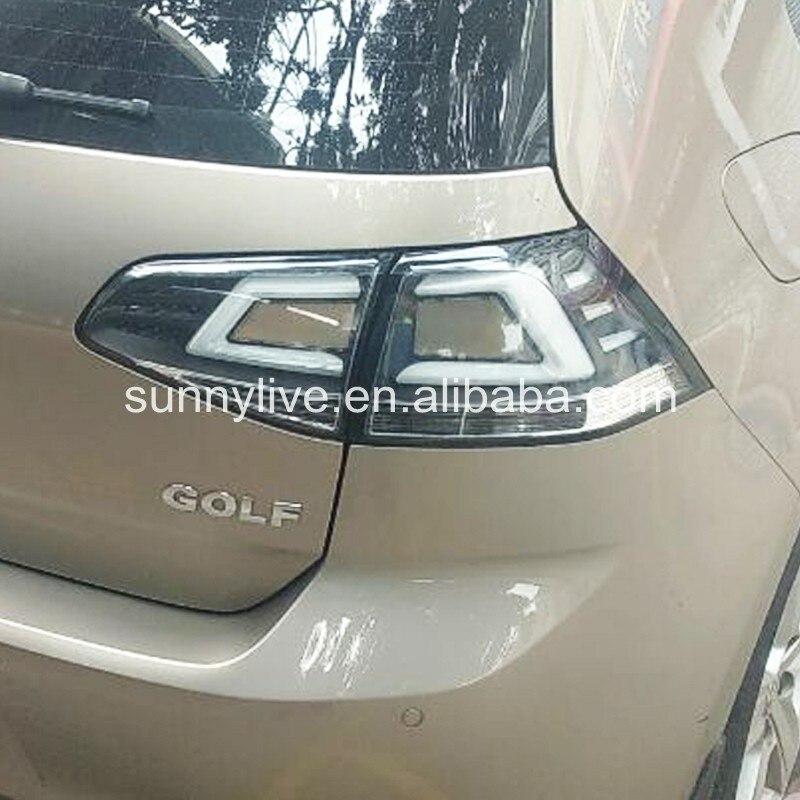 For VOLKSWAGEN Golf 7 LED Tail Lamp Chrome Housing JY