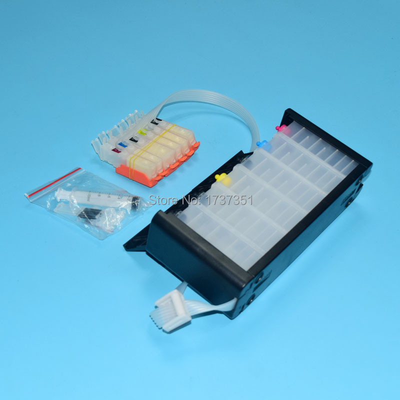6 color PGI-170 CLI-171 Bulk ink system with ARC chip show ink level for canon PIXMA mg7710 printer pgi 170 cli 171 pgi 425 cli 425 refillable ink cartridges for canon pgi425 pixma ip4840 mg5140 ip4940 ix6540 mg5240 mg5340 mx714 mx884 mx894