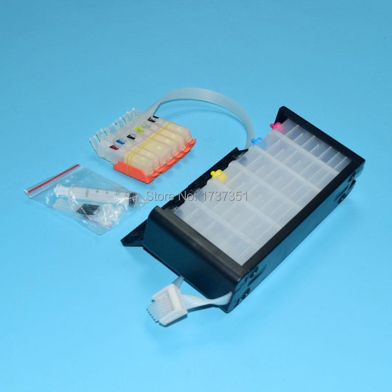 6 color PGI-170 CLI-171 Bulk ink system with ARC chip show ink level for canon PIXMA mg7710 printer pgi 170 cli 171 6 color mg7770 ciss bulk ink supply system for canon printer pgi770 pgi771 770 cartridge with arc chip