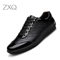 Spring New Casual Genuine Leather Sneakers Shoes Men Leather Oxford Lace Up Shoes Simple Stylish Large Sizes 38 45