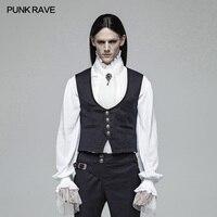 PUNK RAVE Gentleman Retro Style Gothic Vest Victorian Palace Retro Fashion Men's Vest Evening Party Formal Jacket Waistcoat