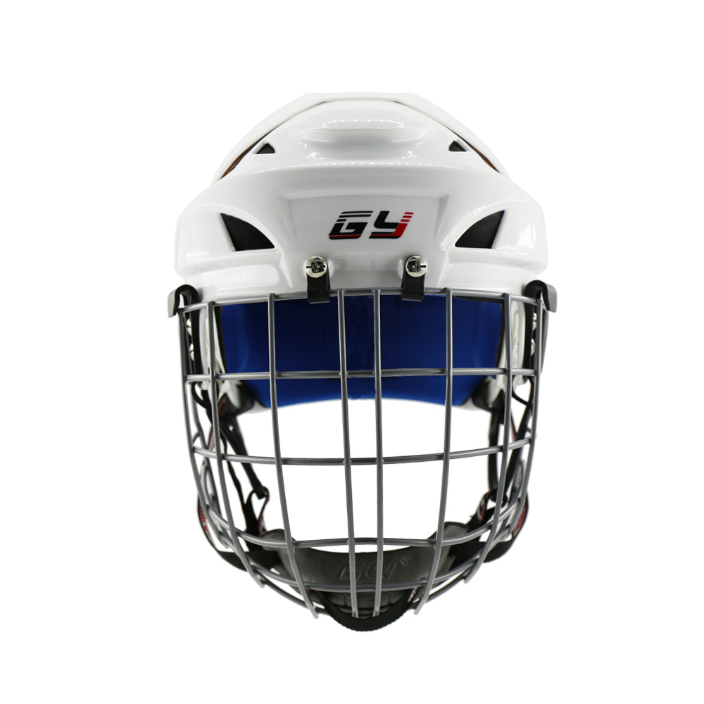 Newest Design Free Shipping Cage CE Approval Ice Hockey Helmet with Warm&Breathable Liner Hockey Mask White sizesfor Kids&Adult free shipping ce hecc csa approved new design ice hockey helmet hockey sport helmet with mask for adlut