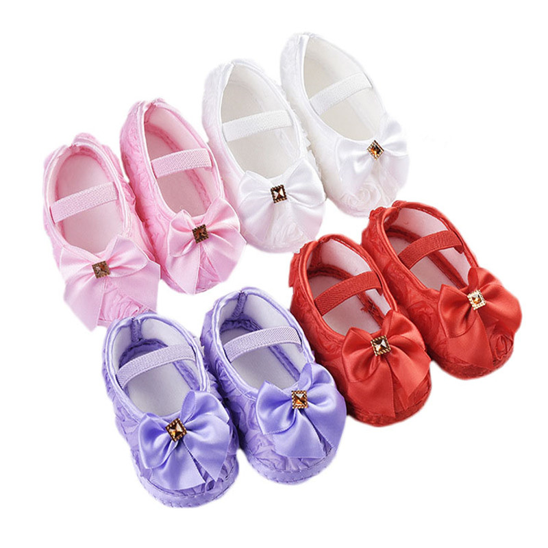 Bow Lace Baby Shoes For Girls Fashion Baby First Walkers Newborn Baby Shoes Summer Spring Infant Girls Shoe