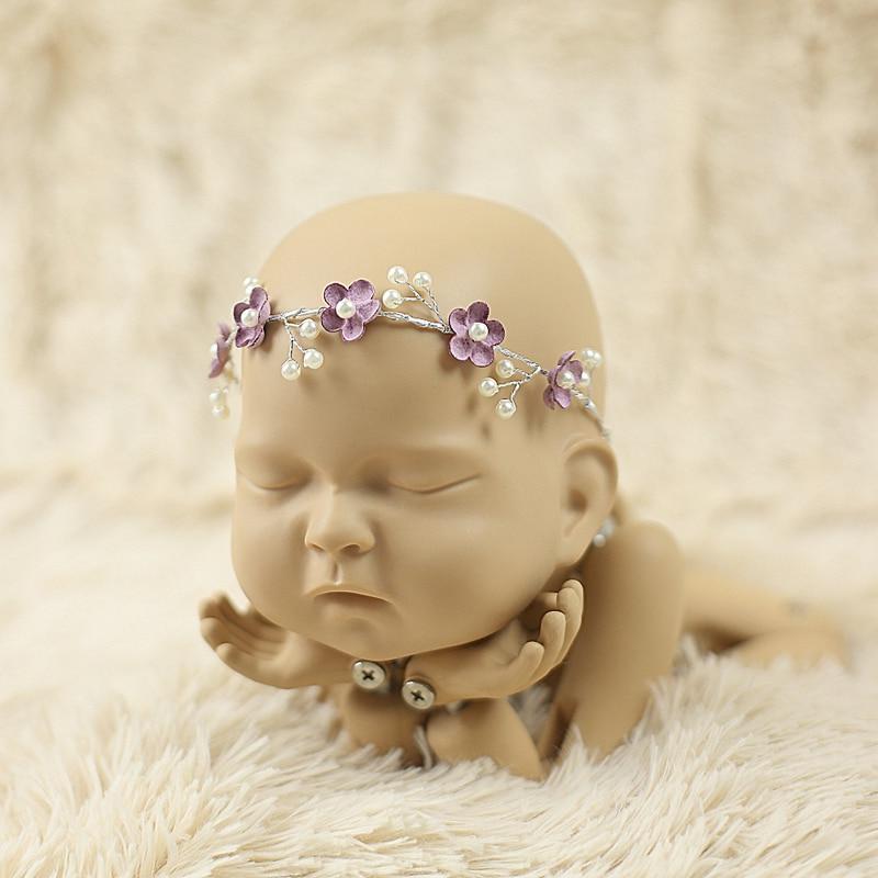 Opaska niemowlęca, Opaski dla noworodka, Flower Girl, Niemowlę, - Odzież dla niemowląt - Zdjęcie 5
