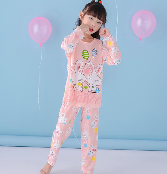 3dd20a93b0 Cartoon Children long Sleeve Pajamas Boy Girl autumn sleepwear Baby nighty Suit  Child bedgown Clothes kids lovely pyjamas RTYU12