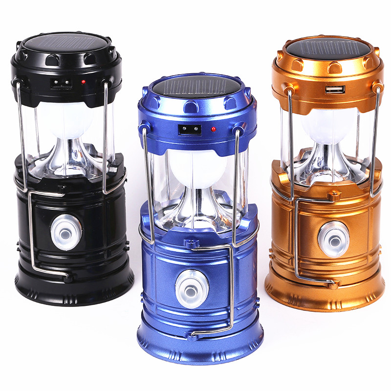 Hot Sale Solar Lamp Lantern Portable Solar Energy Outdoor Light Led Lighting Solar Panel Camp Tent Fishing Lamp