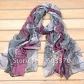 Best-selling New Arrived Cold ink hand-painted leaf scarf shawl