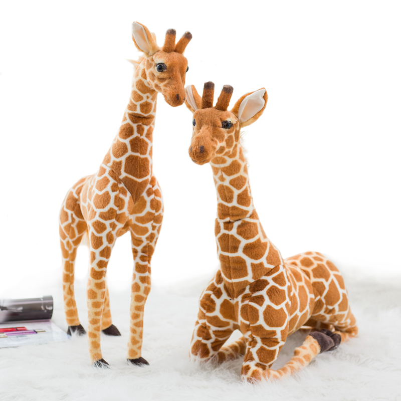 80cm Soft Simulation Giraffe Plush Toys Cute Stuffed Animal Doll Home Accessories High Quality Birthday Decoration Gift Kids Toy 38cm plush whales toys with soft pp cotton creative stuffed animal dolls cute whales toys fish birthday gift for children