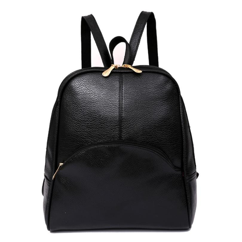 Women Backpack Softback Leather Preppy Style Rucksacks For Girls Casual School Bags For Teenagers Backpack Sac A Dos#D11