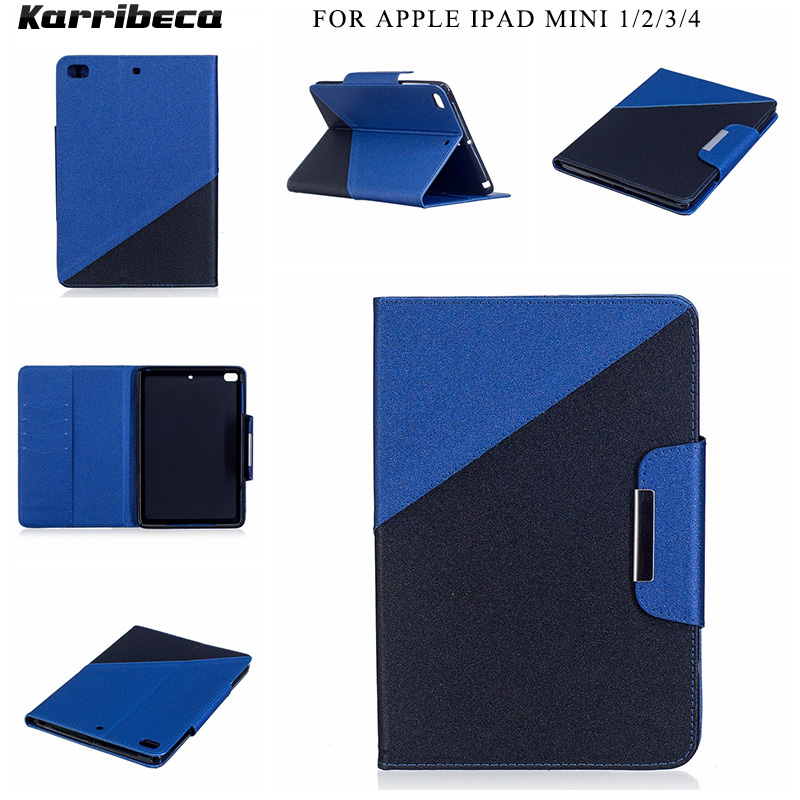 Combo color PU leather cover for For apple Ipad mini 1/2/3/4 tablet case coque etui husa kryt funda tok puzdra hulle tasche