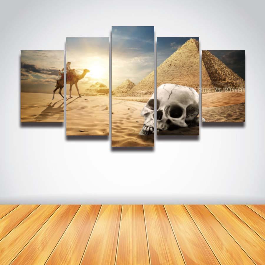 online get cheap desert artwork aliexpresscom  alibaba group - printed large desert skull landscape canvas painting for wall art homedecor living room modern prints
