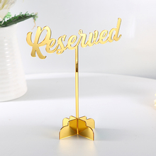 6Piece Reserved Sign. Reserved Wedding Sign. Freestanding Reserved Table Sign. Acrylic Reserved Table Sign. Wedding decor table цена