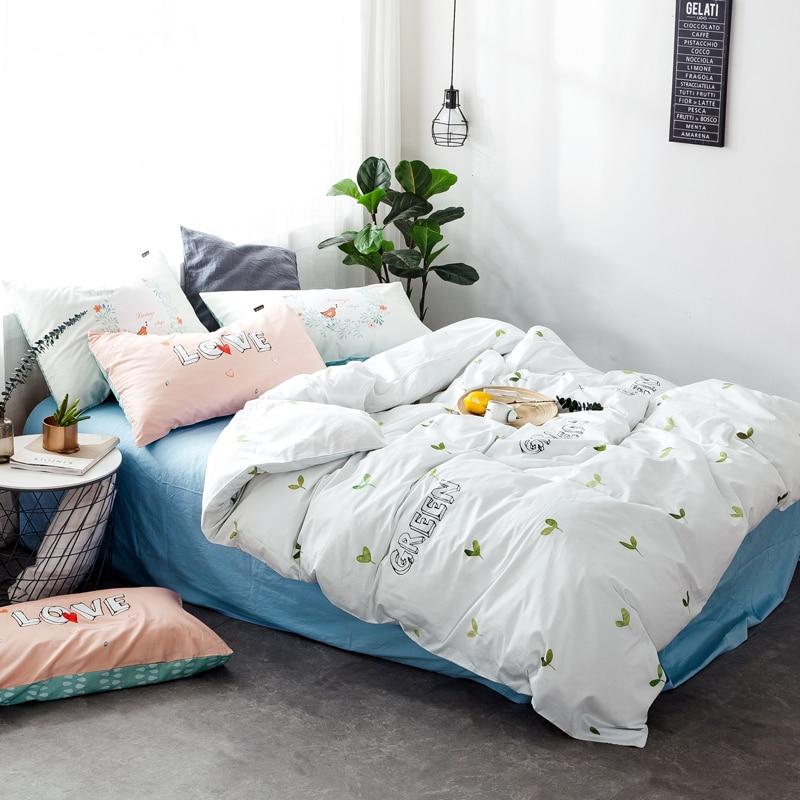 Árboles bosques impresión 3/4 unids Ropa de cama doble reina tamaño ...