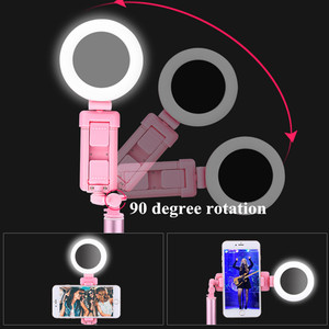 Image 4 - 1.7m Extendable live Tripod Selfie Stick LED Ring light Stand 4 in 1 With Monopod Phone Mount for iPhone X 8 Android SmartPhone
