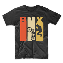 2019 Cool Vintage Retro de los años 70 estilo Bmx bicicleta silueta camiseta-Camiseta Unisex negra grande
