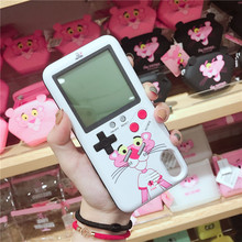 Тетрис игровой автомат чехол для iPhone X 6 6 S плюс крышка розовый Ретро игровой цвет консоли чехол для iPhone 7 8 (розовый/черный)