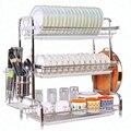 Küche Dish Rack Ablauf Rack Edelstahl Hängen Dish Rack Geschirr Besteck Lagerung Box Geschirr Rack