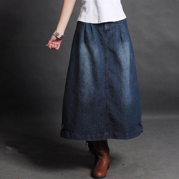 Newest Vintage Fashion casual denim skirts All match women s jeans Skirt cotton skirts free shipping