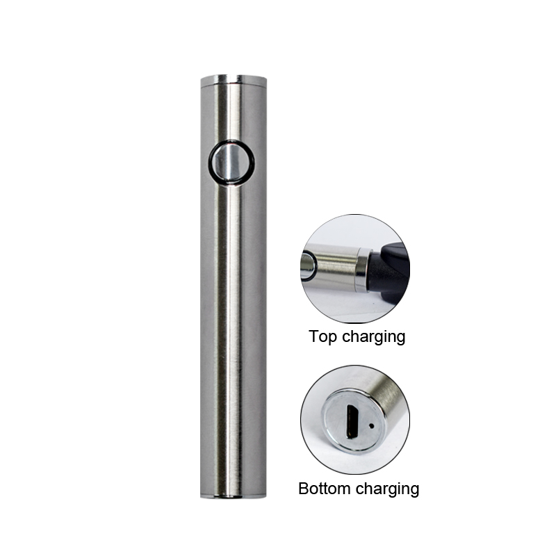 Max C8 Preheating VV Battery 650mAh Adjustable Voltage With Thick Oil Vaporizer Vape Bottom Charging Electronic Cigarette Kits (7)