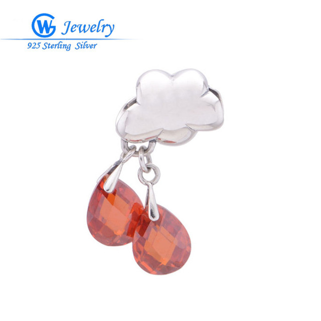 pendulum pendant jewelry 925 Sterling Silver crystal charm Fits bracelet fleur jewelry GW Fine Jewelry S105H50