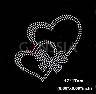4pcs lot Lovely heart design hot fix rhinestones heat transfer design iron  on motifs patches Wholesale rhinestones(ss-6027) 674ac77e865c