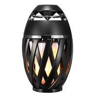 New Portable LED IP65 Waterproof Burning Light Speaker Flame Atmosphere Lamp Wireless Stereo Speaker For Phone