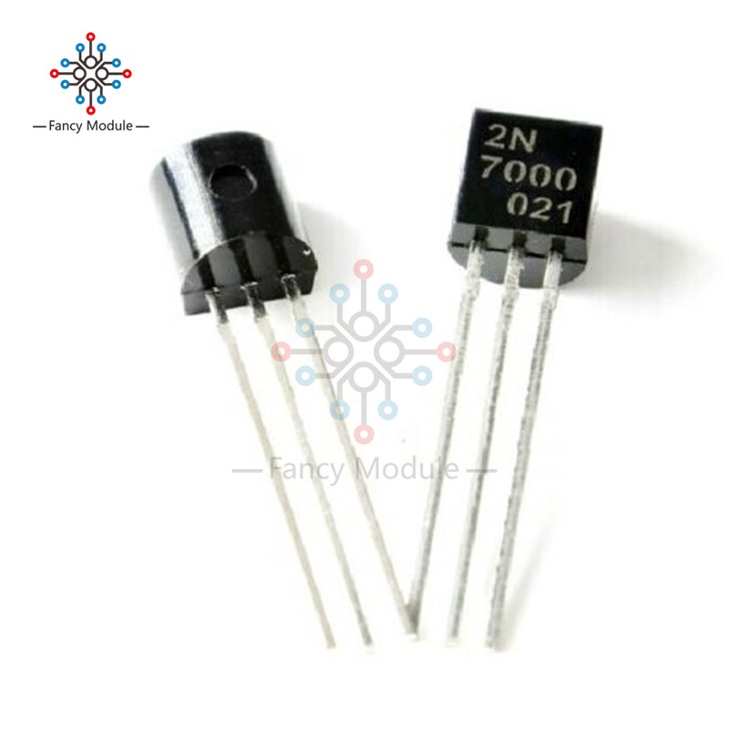 50PCS 2N7000 TO-92 MOSFET N-CHANNEL 60V 0.2A Transistor 10pcs irf530n irf530 to 220 irf530npbf power mosfet n channel 17a 100v 50pcs lot free shipping