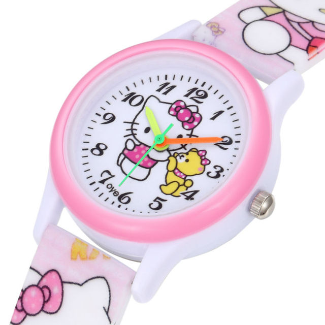 2019 Fashion Casual Wrist Watch For Kids Children Silicone Band Analog Quartz Wr