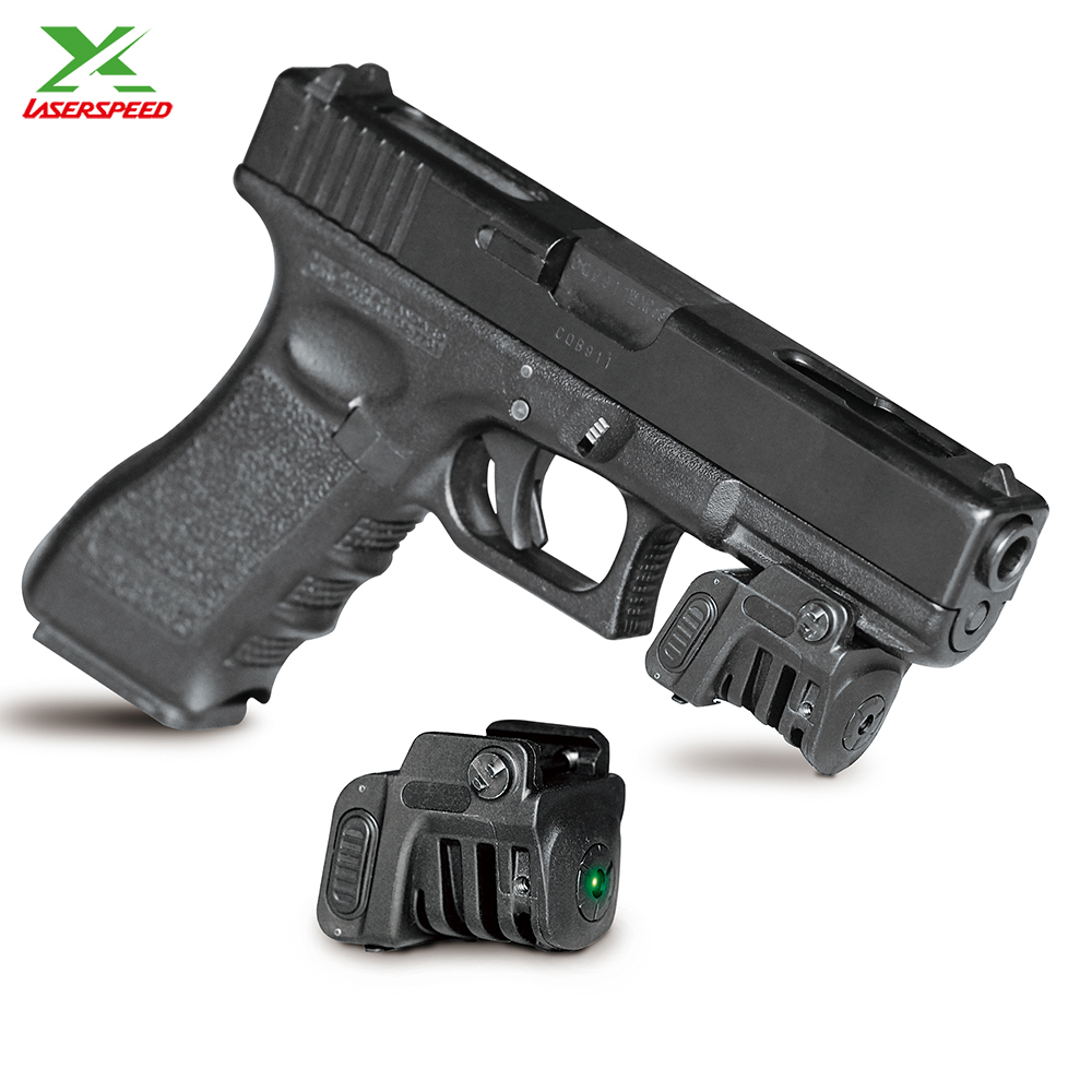 Laserspeed light weight adjustable rechargeable green laser sight pointer for subcompact pistol