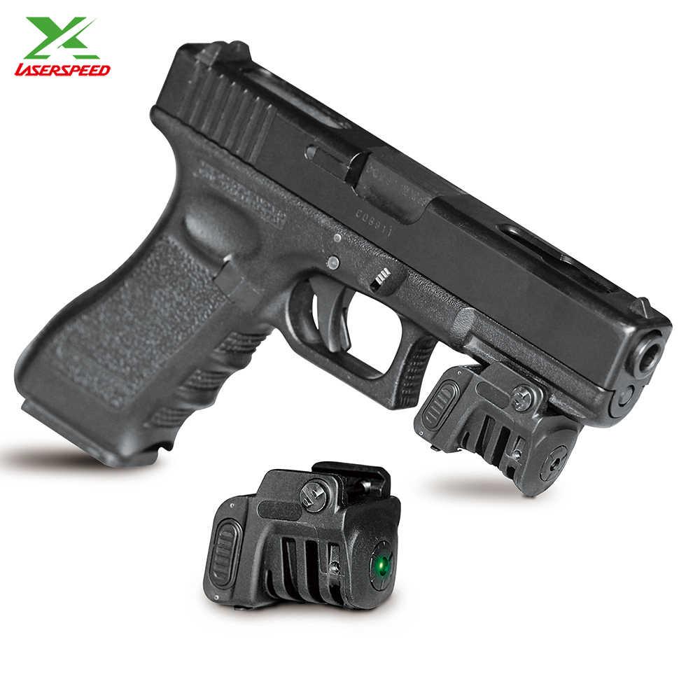 זרוק חינם Laserspeed אור משקל מתכוונן נטענת ירוק לייזר sight מצביע עבור subcompact אקדח